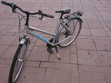 Myydään: Silver Helkama bike for sale