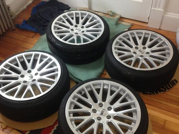 Selling: 4 WCI SY10's 18x8.5 with et 42. 5x112 bolt pattern