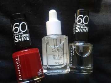 Venta: Esmalte Rojo, Top Coat y Gotas Secantes