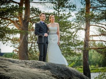 Ilmoitus: Elegantti hääpuku (koko 38/40) Rovaniemellä