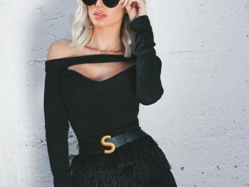 Venta: blusa negro talla L Intercambiamos