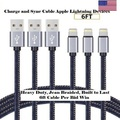Sell: 24x 6FT Heavy Duty Certified Lightning Cable USB Cable