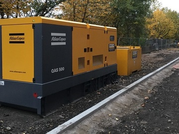 Daily Equipment Rental: Atlas Copco 500 KVA Generator - 24/7 Duty