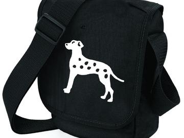 Selling: Dalmatian Dog Bag White on Black Shoulder Bag for Dog Lover