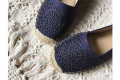 Sell: Lot of 12 Blue Kelly and Katie Canvas Slip Ons