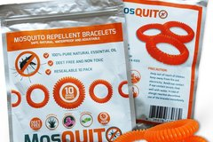 Buy Now: Mosquito Repellent Bracelet 10pc x 100 All Natural Coil New