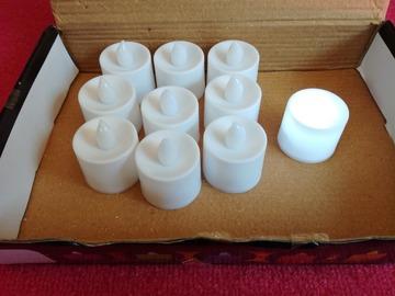 Ilmoitus: Myydään led-kynttilöitä