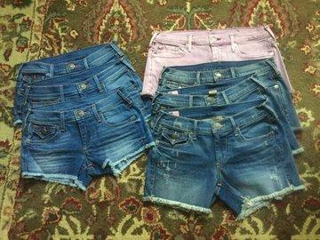 Sell: NEW $1468 TRUE RELIGION Lot of Jean Shorts