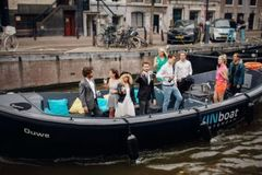 "Rent per 1,5 hour: Open boat ""Kinboat"" - max 25 people"