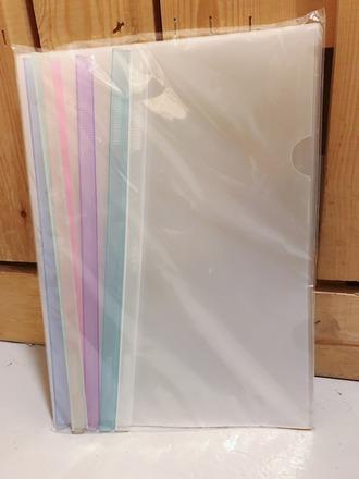transparent file folder sliding bar report covers for a4 aalto