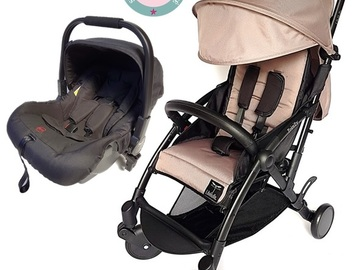 "Renting by month: Pack Duo TRINITY 1 ""LIGHT"" Poussette 0/3 ans + cosy 0/13kg"