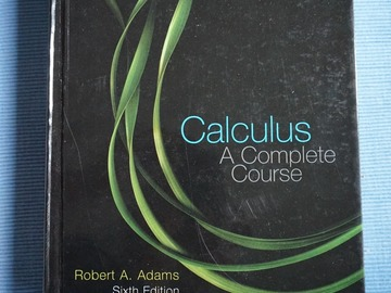 Selling: Calculus - A Complete Course 6th ed., Robert A. Adams