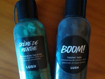Venta: Lush. Toothy Tabs Boom y Creme de menthe