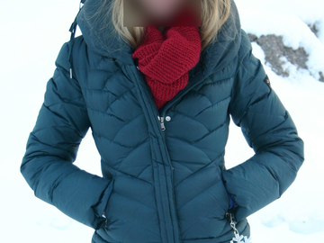 Myydään: Women's Guess quilted jacket, size S