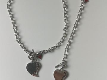 Myydään: Guess Silver jewellery set