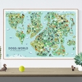 Selling: Dogs of the World Map Print
