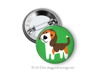 Selling: Beagle buttons - a set of 3