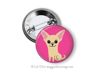 Selling: Chihuahua buttons- a set of 3