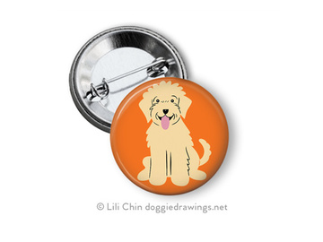 Selling: Golden Doodle buttons - set of 3