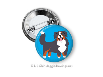 Selling: Bernese Mountain Dog buttons - a set of 3