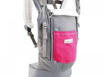 Rent by week: porte bébé physiocarrier gris et rose