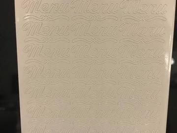 Ilmoitus: Valkoiset Menu-tarrat