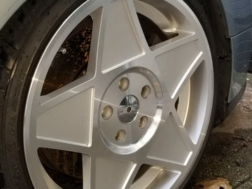 Selling: fresh rims 5x112 18x8 fronts 18.9 rears