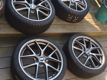 Selling: BBS 19 x 8; et44 CI-R's on 235/35/19 PSS's.