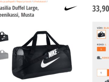 Myydään: Gym Bag