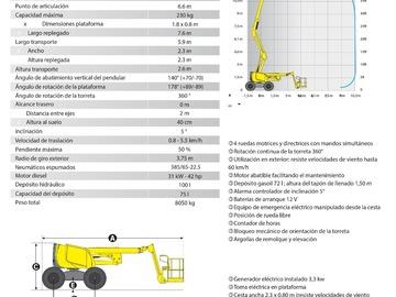 En alquiler: Brazo Articulado Diesel 4x4 - 18m
