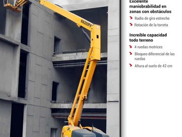En alquiler: Brazo Articulado Diesel 4x4 - 26m