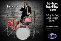 Ad: Chicago Drum: Endorser Ken Harck, New finishes