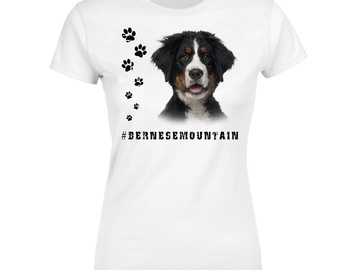 Selling: BERNESE MOUNTAIN 1 Womens T Shirt Hashtag Dog Breed Print