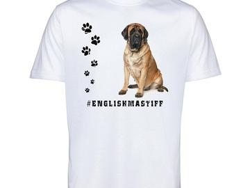 Selling: ENGLISH MASTIFF 52 Mens T Shirt Hashtag Tee Dog Breed Print