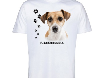 Selling: JACK RUSSELL 70 Mens T Shirt Hashtag Tee Dog Breed Print