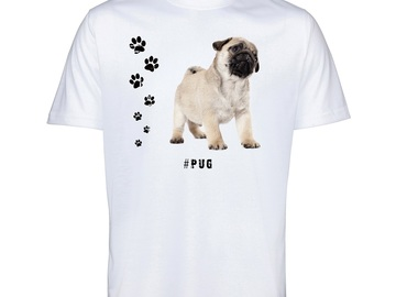 Selling: PUG 60 Mops Mens T Shirt Hashtag Tee Dog Breed Print Gift