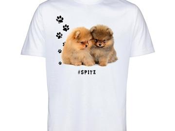 Selling: SPITZ 57 Pomeranian Mens T Shirt Hashtag Tee Dog Breed Print