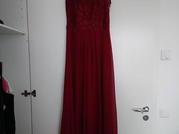 Ilmoitus: Burgundy / viininpunainen pitkä mekko koko 38