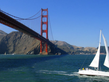 Rent per 3 hours: Golden Gate Bridge sailing tour - Max. 6 people
