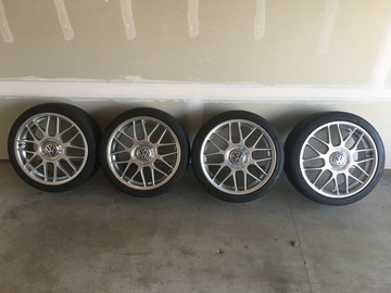 "Selling:  BBS RC's off of a Jetta GLI 18""x7.5"" 5x100 with Center Caps"
