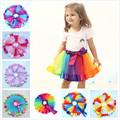 Bulk Lot: 100 pc Mixed Lot Girls Layered Rainbow Ribbon Tutu  Dress