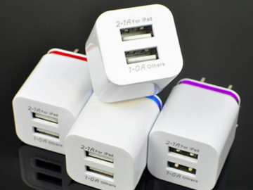 Bulk Lot: High Quality 5V 2.1/1A Double US AC Travel USB Wall Charger