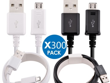 Liquidation Lot: 300 x Micro USB Charger Fast Charging Cable Cord For Samsung