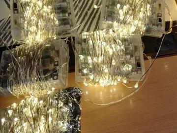 Ilmoitus: LED-valosarjoja koristeluun, paristokäyttöiset