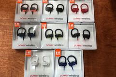 Bulk Lot: 20 x power 3 wireless headsets ( mix 8 color)