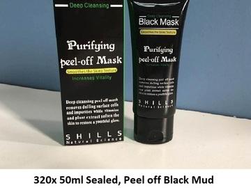 Bulk Lot: 320x Units, 50ML sealed. Black Mud Deep cleaning mud mask, b