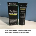 Bulk Lot: 320x Units, 50ML sealed. Black Mud Deep cleaning mud mask, b