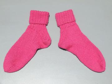 Vente au détail: Socquettes rose en alpaga pour femmes
