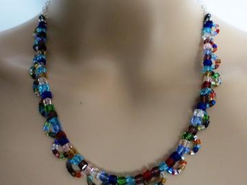 Sale retail: ELLIE, «Éclat du soleil ...» Parure en perles de Cristal