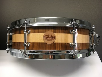 VIP Members' Sales Only: Haywarddrumco 2017 Walnut/Maple segment stave shell